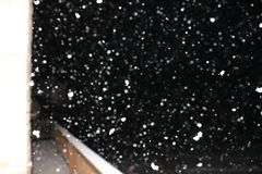 Snow Falling over a Deck stock photography