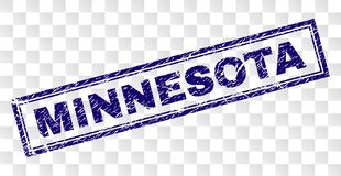 Grunge MINNESOTA Rectangle Stamp royalty free illustration