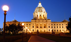 Minnesota State Capital. The Minnesota State Capital at Night Stock Images