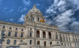 Minnesota State Capitol. HDR photo of the state capitol building in St. Paul Minnesota Stock Images