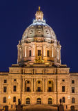 Minnesota State Capitol Building at Night Stock Photos