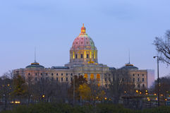 Minnesota State Capitol at Dusk Stock Photography