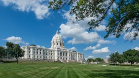 Minnesota State Capitol. Exterior of the Minnesota State Capitol building at 75 Rev Dr Martin Luther King Jr Boulevard in St. Paul, Minnesota royalty free stock photo
