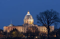 Minnesota State Capitol at Night Stock Photography
