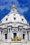Minnesota State Capitol St Paul MN - Straight on Stock Image