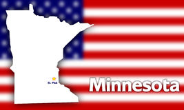 Minnesota state contour Royalty Free Stock Photo