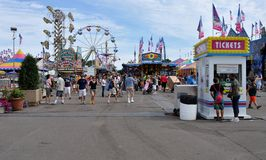 Minnesota State Fair. SAINT PAUL - AUGUST 27:  The Midway at the Minnesota State Fair, as seen on August 27, 2011 in St. Paul Royalty Free Stock Photography