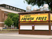 Minnesota State Fairgrounds during the Off-Season – French Fry Stand. Falcon Heights, Minnesota, USA - July 27, 2016:  A popular French fry concession in Royalty Free Stock Photography