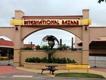 Minnesota State Fairgrounds during the Off-Season – International Bazaar. Falcon Heights, Minnesota, USA - July 27, 2016:  The International Bazaar where Royalty Free Stock Photo