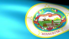 Minnesota State Flag Waving. Video footage stock video footage