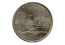 Minnesota State Quarter royalty free stock photo
