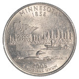 Minnesota State Quarter coin royalty free stock photography