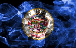 Minnesota state smoke flag, United States Of America.  stock images
