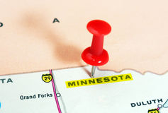 Minnesota  state USA map Stock Photo