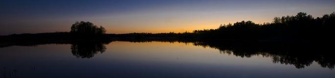 Minnesota Sunset Silhouette Royalty Free Stock Photos