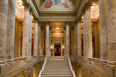 Minnesota Supreme Court Entrance. Interior of Minnesota State Capitol at East Wing showing State Supreme Court entrance stock image