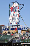 Minnesota Twins Sign at Target Field royalty free stock photography