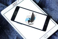 Minnesota United FC Soccer Club logo. Logo of Minnesota United FC Soccer Club on samsung mobile. Minnesota United FC is an American professional soccer club