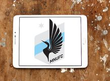 Minnesota United FC Soccer Club logo. Logo of Minnesota United FC Soccer Club on samsung tablet. Minnesota United FC is an American professional soccer club Stock Photography