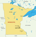 Minnesota - vector map of state Stock Photos