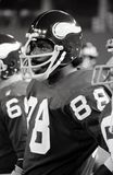 Minnesota Vikings Legend Alan Page. Image taken from B&W negative royalty free stock photography