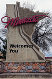 Minnesota welcome sign Stock Photo