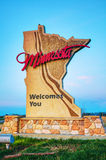 Minnesota welcomes you sign Royalty Free Stock Image
