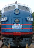 Minnesota Zephyr. Historic express now refurbished as restaurant near St Paul Minnesota Stock Image