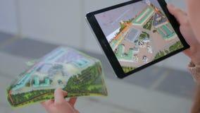 Minnestavla ökad verklighet app Arkivfoto