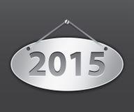 minnestavla för 2015 oval Royaltyfria Bilder
