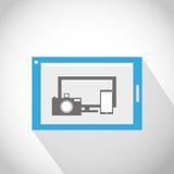 Minnestavlaall PC i ett begrepp Fotografering för Bildbyråer