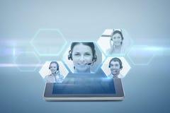 MinnestavlaPCdator med video pratstundprojektion royaltyfri illustrationer