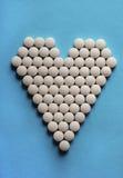 Minnestavlor i form av hjärta Fotografering för Bildbyråer