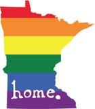Minnestoa homoseksualnej dumy stanu wektorowy znak royalty ilustracja