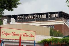 Minnestoa stanu Fairgrounds podczas poza sezonem †'wina bar obraz royalty free
