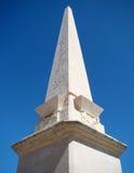 Minnesvärd obelisk på fyrkanten, Ciutadella Arkivfoton