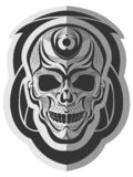 Minnesvärd skalledesignkonst royaltyfri illustrationer