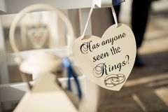 Minnesvärt tecken för ett oförglömligt bröllop Arkivbild