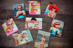 Minnet och nostalgi för fotoalbum i sommarresa snubblar på Royaltyfria Bilder