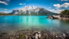 minnewanka озера Стоковые Изображения RF