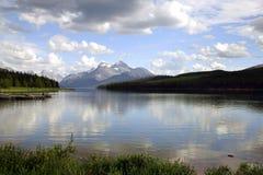 Minnewanka del lago Fotografia Stock Libera da Diritti
