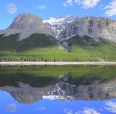 Minnewanka Lake. Banff National Park. Alberta. Canada Royalty Free Stock Photo