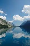 minnewanka s för lake för banff Kanada jäkelmellanrum Royaltyfria Bilder