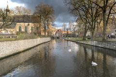 Minnewater Bruges photos stock