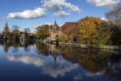 Minnewater - Bruges - il Belgio Fotografie Stock Libere da Diritti