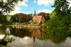 Minnewater, Brugge, Belgium Royalty Free Stock Images