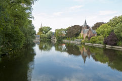 The Minnewater, Brugges Royalty Free Stock Photos