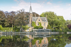 Minnewater, Brugges Royalty-vrije Stock Afbeelding