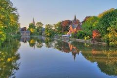 Minnewater - Brujas Belgique fotografía de archivo libre de regalías