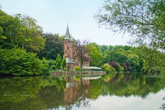 Minnewater Castle. In Brugge, Belgium Royalty Free Stock Photo